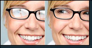 1794a762d605de ontspiegeld en niet-ontspiegeld brilglas.